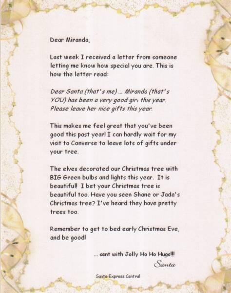 Santa Letters & Phone Calls Order